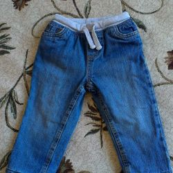 Jeans warmed mothercare for a boy 1-1,5 years old