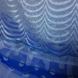curtains (blue peas) + tulle