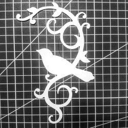 # 32 F - Felling, curl with a bird.