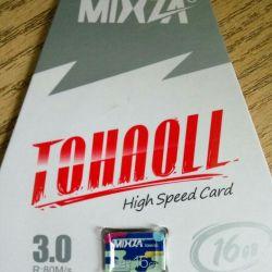 Cartelă nouă de memorie Micro SDHC 16 GB 10 clasă