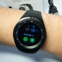 🔥 Akıllı Saat SW Y1 Siyah BT + Sim Metal Yeni