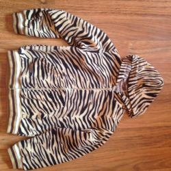 Blouse with zipper warm for 6-8 years
