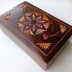 Casket carving wood USSR