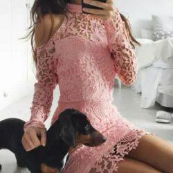 Glamorous pink dress. New.