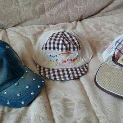 Children's cap, panama. Of cotton.