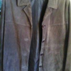 Натуральный замшевый пиджак,50