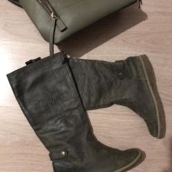 Boots leather autumn-spring