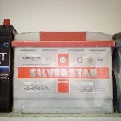 Аккумулятор SILVER STAR 55AH 530A новый