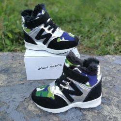 Αθλητικά παπούτσια με γούνα