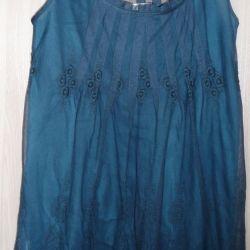 Guipure dress in navy blue, r-44 (46)