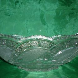 Crystal glass dish of the USSR