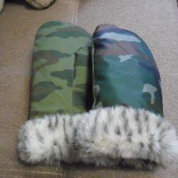 Продам меховые рукавицы.