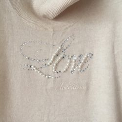 Love Moschino sweater dress natural wool