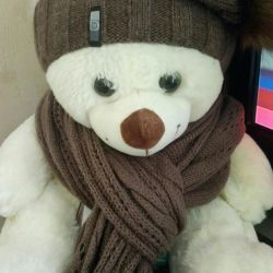 Knitted scarf hat