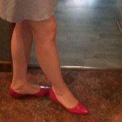 Pantofi de balet Baldinini originale din piele de brevet