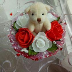 Bouquet with a teddy bear