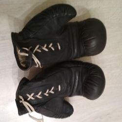 Box mănuși din piele original