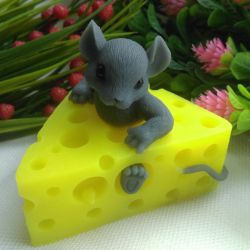 Handmade soap, mouse in cheese