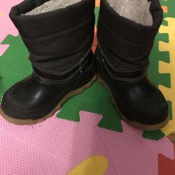 Çocuklar için deri / kauçuk çizmeler 24