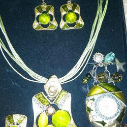 Set (necklace, earrings, ring, bracelet)