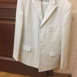 Άσπρο κοστούμι ανδρών