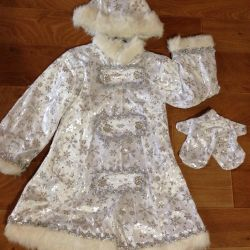 Suit New Year's for the girl Snow Maiden, Zimushka