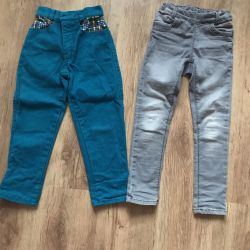 Corduroy jeans and trousers