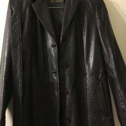 Autumn leather coat
