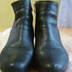 Ankle boots leather nat.