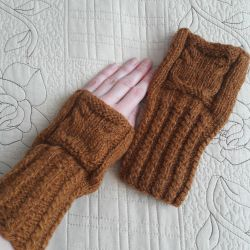 Нові мітенки рукавиці з совами