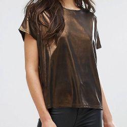 Metallic T-shirt New look