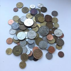 Foreign coins 90 pcs