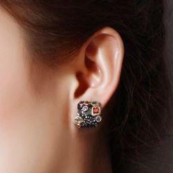 Vintage earrings with stones