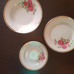 A set of dishes mid-80's.