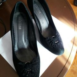 Suede pantofi