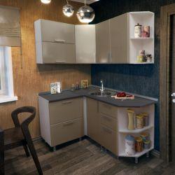 Κουζίνα Gl 120x160 cm Καφές μεταλλικό MDF