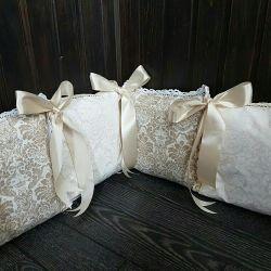 Шикарные наборы бортиков-подушечек в детскую крова