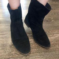JB Martin χαμηλές μπότες σουέτ με επίπεδη σόλα