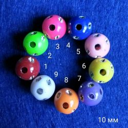 10 mm χάντρες από στρας