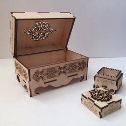 Cutie din lemn sculptat