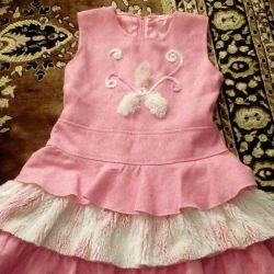 Warm dress for girls
