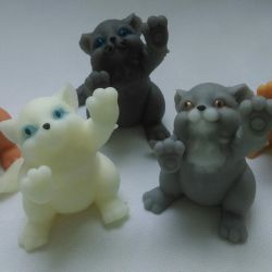 Handmade soap kitty.