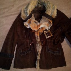 Sheepskin coat is natural. Wolf