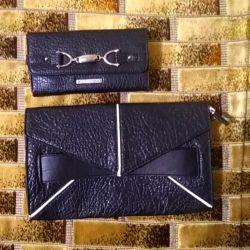 Çanta debriyaj + cüzdan kadın.