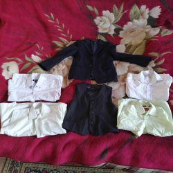 For school 122-128cm. Jacket left
