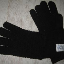 yeni erkek yün eldivenleri
