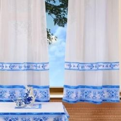 Curtains in the kitchen with photo printing 140 * 180