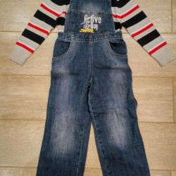 Coverall jeans for boy