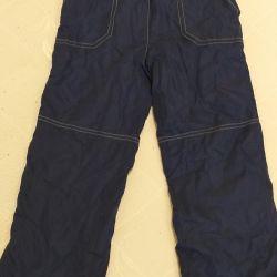 Болонивые штанишки на флисе