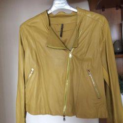 New leather jacket Italy, shortened